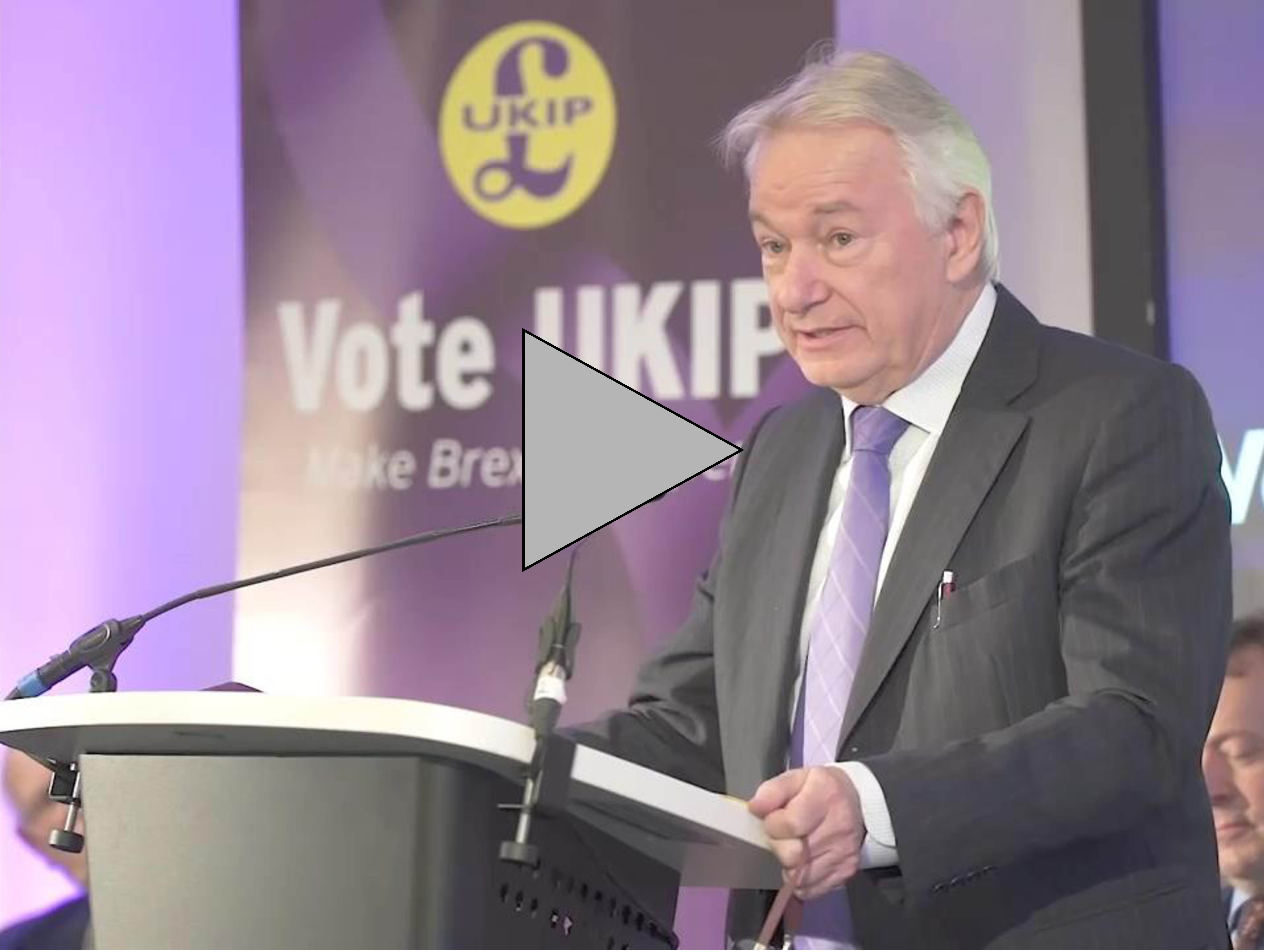 Richard Elvin speaks at UKIP